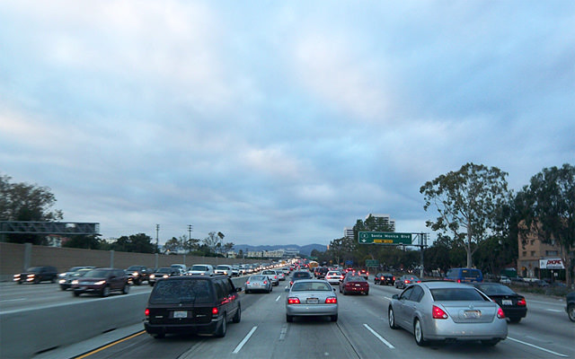 Rush Hour On The 405 Freeway in Los Angeles