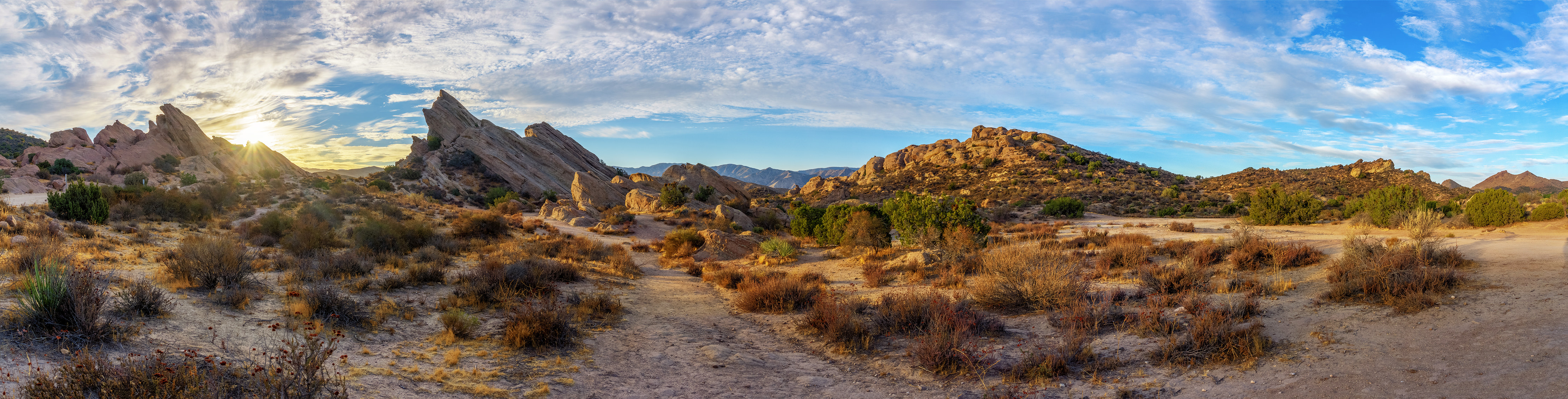 Vasquez Rocks Natural Area Panorama