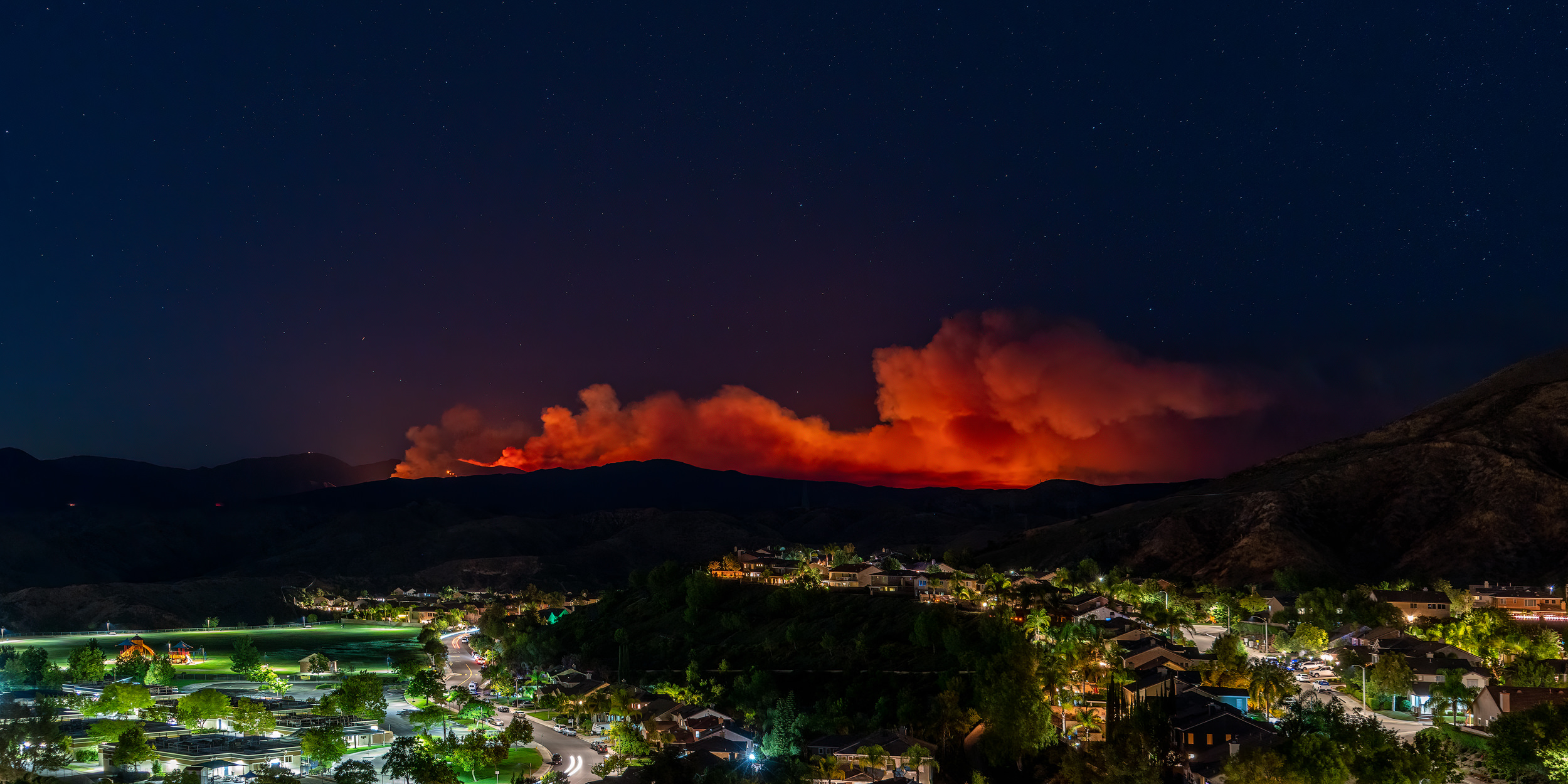The #lakefire at night